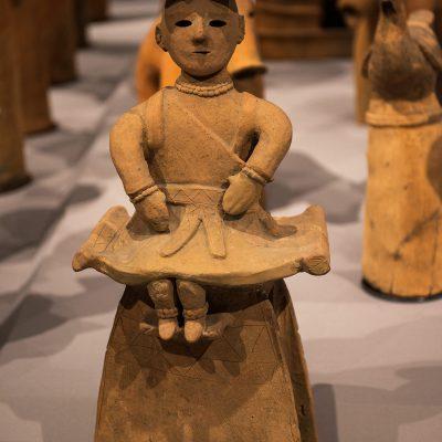 Seated Women - Haniwa  (Terracotta tomb figurine) - From Kokai, Oizumi-machi, Gunma. Kofun period, 6th century