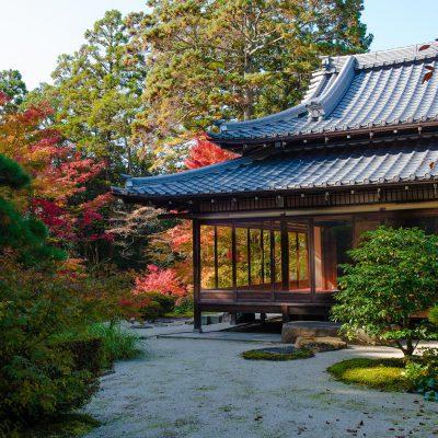Le temple Eikando Zenrin-ji - En 853, au tout début de la période Heian, le prêtre Shinjo, un disciple de Kobo Daishi Kukai, fit construire un temple dédié à la pratique du Bouddhisme Shingon, sur le site de l'actuel Zenrin-ji. Dix ans plus tard, Shinjo reçut la permission de l'Empereur Seiwa d'établir un temple, qui reçut le nom de Zenrin-ji.