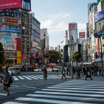 Le carrefour Hachiko ou Shibuya Crossing, au centre de Shibuya.