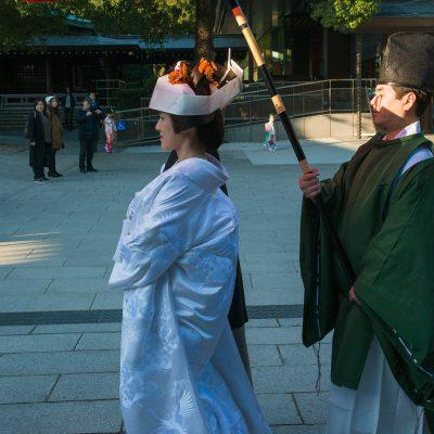 La cérémonie de mariage shinto, « cérémonie devant les divinités » est la cérémonie de mariage japonais traditionnelle, d'origine shintoïste.