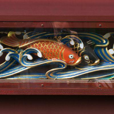 Détail d'une frise du décor du Karamon - Le temple Ueno Toshogu