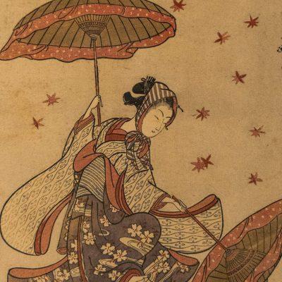 Danse des feuilles d'automne, Par Suzuki Harunobu (1725?-70) Période Edo 18è siècle - Musée National de Tokyo