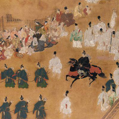 La lutte de voiture (détail) par Kano Sanraku (1559-1635) Couleur sur papier Période Edo 1604 - Tokyo Musée National