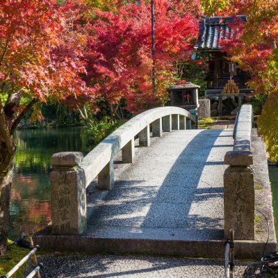 Le pont Hojo-ike - temple Eikando Zenrin-ji
