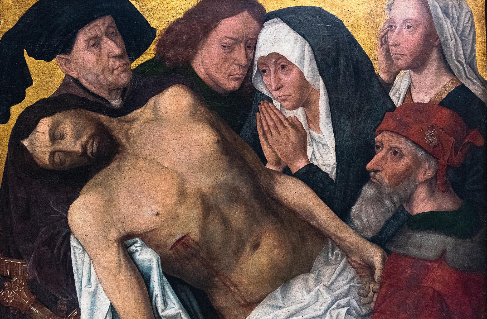 Hugo van der Goes - La Lamentation ca. 1500 Huile sur toile: 43,6 cm x 56,5 cm 1951-M