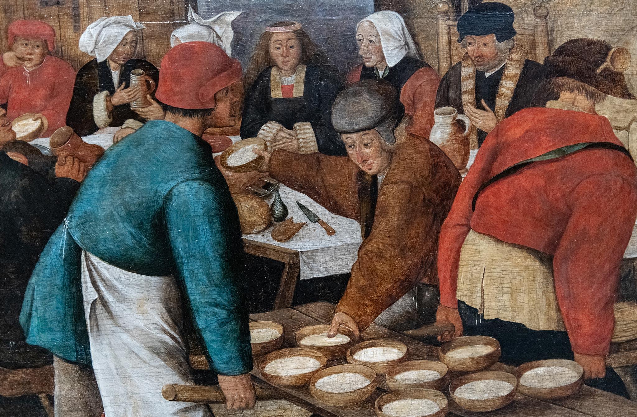 Pieter II Brueghel - Repas de Noces dans la grange - 1616 Huile sur toile: 69,9 cm x 105,2 cm S-46