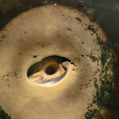 La colonne suante (ou colonne à la goutte d'eau) dans la basilique