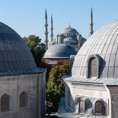 La mosquée bleue, vue de Sainte-Sophie.