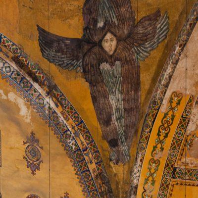 Ange séraphin mosaïque dans le musée Sainte-Sophie, Istanbul
